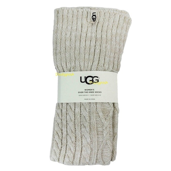 61 Off Ugg Accessories Ugg Cable Knit Over The Knee