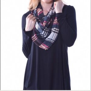 Pastels Clothing Tops - Pastels Black Long Sleeve & Scarf Combo