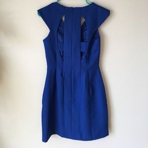 Dresses & Skirts - Royal blue cut out back dress