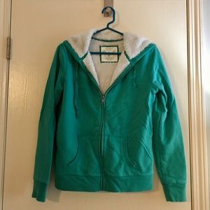 ⭐️MAKE AN OFFER!⭐️ Teal hooded zip up