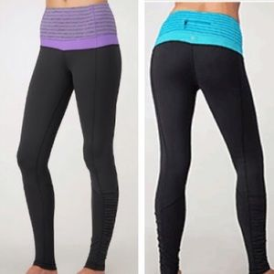 lululemon athletica Pants - 🇺🇸🎊Pink Waistband NWT lulu run spirit tights
