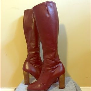 Shoes - Red Leather Boots