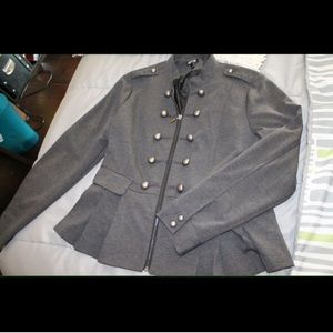 Apt. 9 Jackets & Blazers - Gray military inspired lightweight jacket L