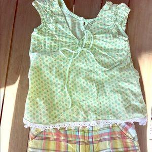 Little Mass Other - Little Mass 4T multicolor top & shorts set CUTE!