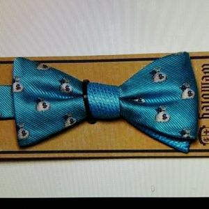 Wembley Other - Mens Wembley Money Bags Bow Tie  Blue Gray