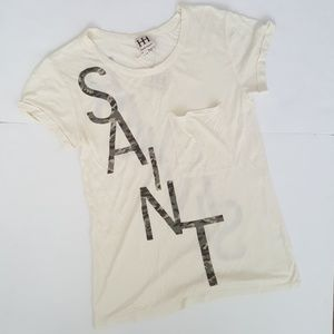 Haute Hippie Tops - Haute Hippie Saint/Sinner T-Shirt
