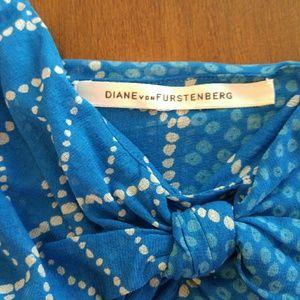 Diane von Furstenberg Tops - DvF Summer Capri Sky Blue Silk Cami!