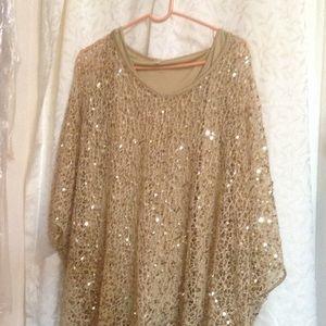 REBA Gold Tunic XL Like New!
