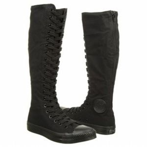 Converse Shoes - Black Knee High Tops Converse All Star XX Sneakers