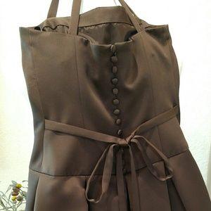 Vera Wang Dresses - Vera Wang Mocha Chocolate Bridesmaid Dress