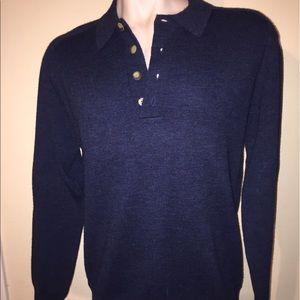Filson Other - Filson wool Henley pullover sweater navy blue Sz M