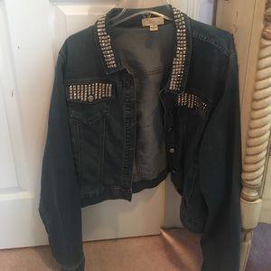 Forever 21 Plus size studded jacket