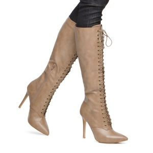 Shoedazzle Clary Lace Up Boots