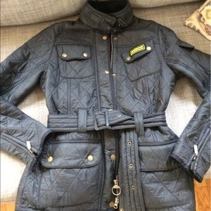 Barbour Jackets & Blazers - Size 6 Barbour international quilted belted jacket