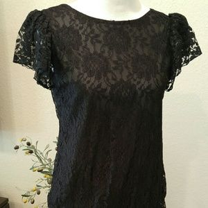 Dresses & Skirts - Vintage 1920s-style Lace Flapper Fringed Dress