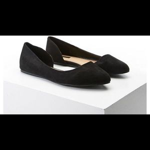 Suede flats pointed