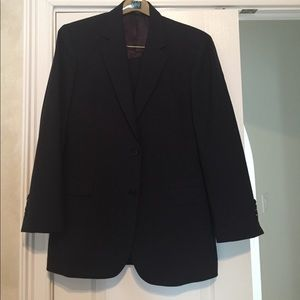 Brooks Brothers 346 Stretch Black Suit