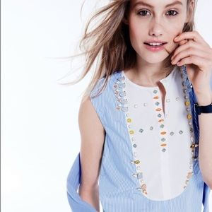 J. Crew Tops - J. Crew jeweled sleeveless blouse top