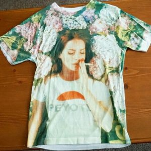 Lana del Ray Tops - Lana Del Rey Floral Top Size S