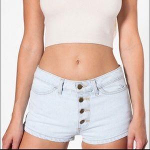 American Apparel button up denim shorts
