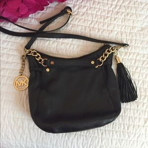 Michael Kors leather crossbody bag!