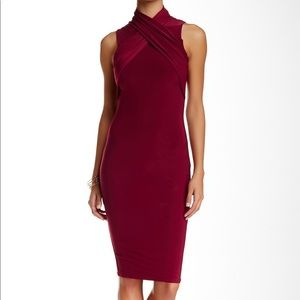 Misguided Burgundy Dress