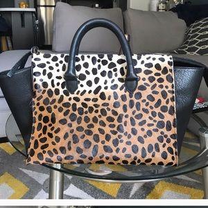 Clare vivier leopard  print tote bag sandrine