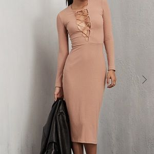 Reformation Dresses & Skirts - Reformation Edison nude ribbed dress