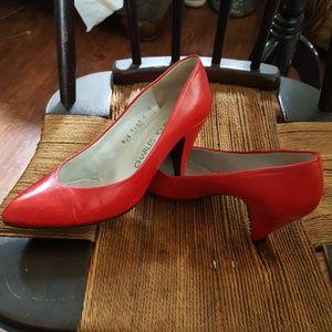 Charles Jourdan Shoes - Carles Jourdan fire engine red pumps 6