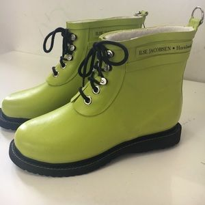 Ilse Jacobsen Shoes - New Ilse Jacobsen Hornbaek Lime Rainboots EU SZ 38