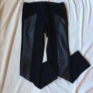10 Crosby Derek Lam Pants - 10 Crosby Derek Lam Fabric w/ Leather Panel Pants