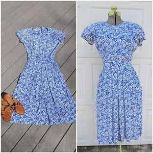 90's Vintage Day Dress with Pockets