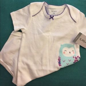 Carter's Other - 2/$15 🛍 NWT Carter's 12 month onesie owl flowers