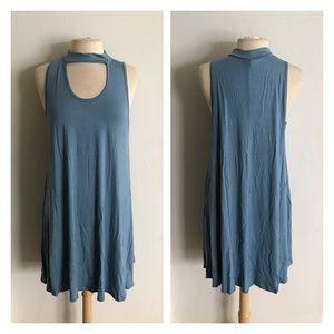 Dresses & Skirts - 2 LEFT! (Plus) Blue choker collar dress