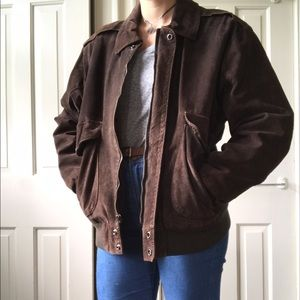 American Apparel Jackets & Blazers - Vintage Suede Bomber Jacket