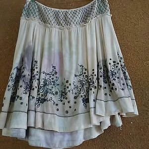 Free People crazy for Grommets skirt