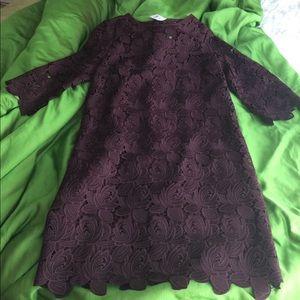 NWT- LOFT - Lace Overlay Shift Dress