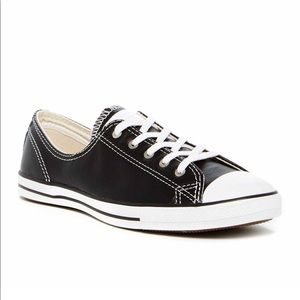 Converse Black Leather Sneaker shoes