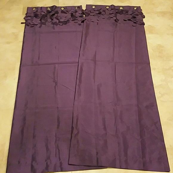 Ruffle Purple Eggplant 84 Long Curtains Os From Gg 39 S Closet On Poshmark