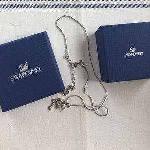 Swarovski lock and key necklace