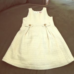 Juicy Couture Cream and Gold Wool Dress Sz 5