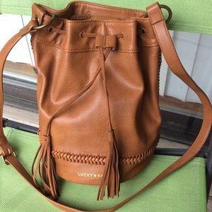 Lucky Brand Handbags - Lucky brand genuine leather bucket bag