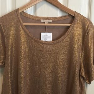 Bordeaux Gold Top from Anthro! NWT