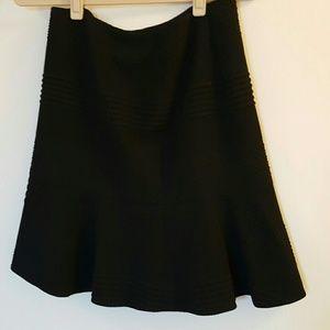 HUGO Dresses & Skirts - Hugo textured black knit skirt with lining