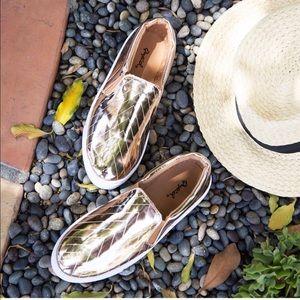 Shoes - ❗️mark down‼️ROSE GOLD SKIMMER SLIP ON SNEAKER