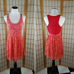 Urban Outfitters Dresses & Skirts - Pins and Needles red dress with lace overlay