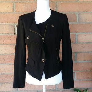 CAbi Jackets & Blazers - CAbi Black Asymmetrical Moto Biker Jacket Sz. S