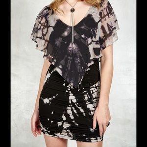 Gypsy 05 Dresses & Skirts - Gypsy 05 V Neck Tie Dye Silk Mini Dress XS Blue