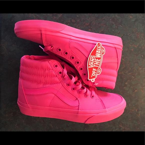 85d39b2f46a Vans Shoes - Vans Sk8-Hi Neon Pink