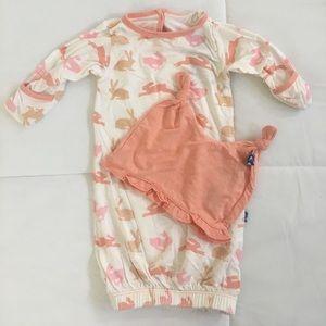 Kickee Pants Other - Kickee Pants newborn girl set